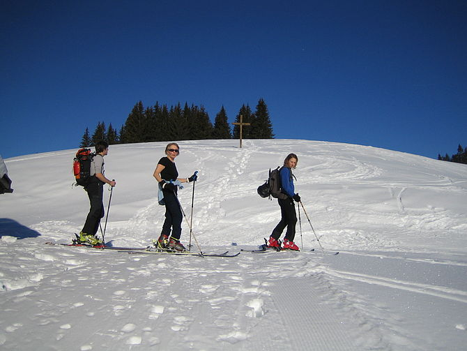English: description of skitouring