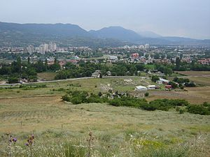Scupi - Panorama of Scupi and Skopje.
