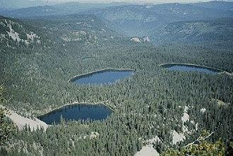 Sky Lakes Wilderness - Seven Lakes Basin from Devil's Peak