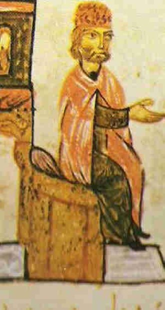 Simeon I of Bulgaria - Simeon I, from the Madrid Skylitzes