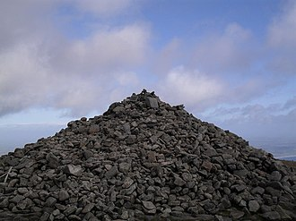 Slieve Donard - One of the summit cairns in 2009