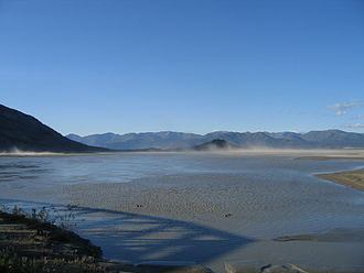 Slims River - The former mouth of the Slims River, at Kluane Lake