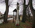 Sloup se sochou svatého Jana Nepomuckého v Řehořově (Q38197392).jpg