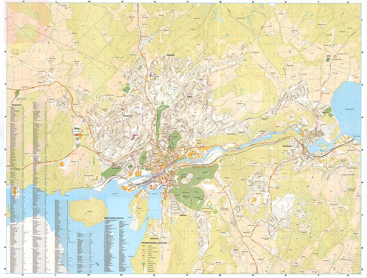 kart over side File:Smålenenes amt nr 208 side 2  Kart over Halden, 1984.  kart over side