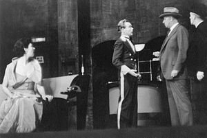 Myron McCormick - Ilka Chase, Myron McCormick, and Robert Middlemass in 1934 stage production Small Miracle