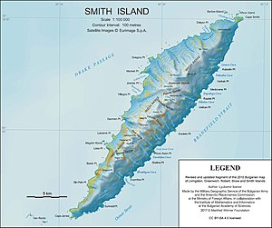 Imeon Range - Topographic map of Smith Island.