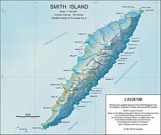Imeon Range - Topographic map of Smith Island.