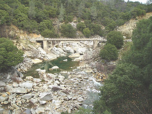 California State Route 49 - The South Fork of the Yuba River as it intersects with Hwy 49