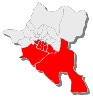 23rd MMC – Sofia-city 23 - Карта на районите, които влизат в МИР 23