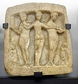 Sofia Archeological Museum Votive tablet three graces 02.jpg