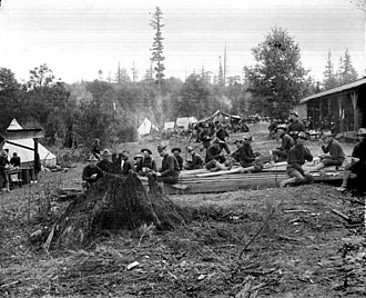 Fort Lawton - Soldiers taking a break at Fort Lawton in 1900 by Theodore E. Peiser