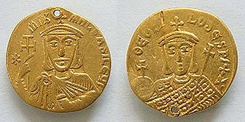 Coin of Michael II and Theophilus