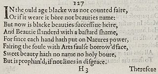 Sonnet 127 poem by William Shakespeare