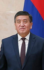 Sooronbay Jeenbekov at the Eurasian Intergovernmental Council meeting, 7 March 2017.jpg