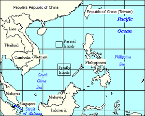 The South China Sea, showing surrounding count...