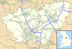 Mapa lokalizacyjna South Yorkshire