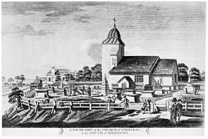 South view of the church of St. Pancras. Wellcome M0012500.jpg