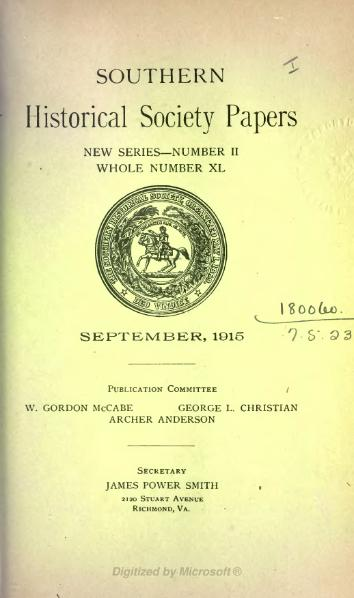 File:Southern Historical Society Papers volume 40.djvu