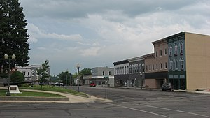 Sullivan, Illinois - Southern side of courthouse square in Sullivan