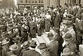 Speaker addressing the crowd on the steps of the St. Louis Court House on National Women's Suffrage Day, 2 May 1914.jpg