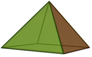 Square pyramid - Image: Square pyramid