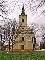 Srpska pravoslavna crkva Uspenja Bogorodice u Perlezu - zapadna fasada.jpg