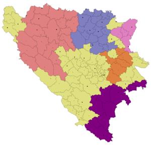 Serb Autonomous Regions - Image: Srpske autonomne oblasti u Bosni i Hercegovini u studenome 1991