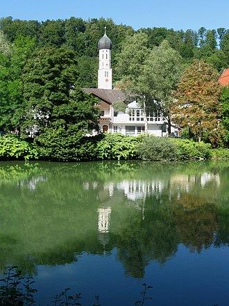 Wolfratshausen - St. Andreas Loisach river Wolfratshausen
