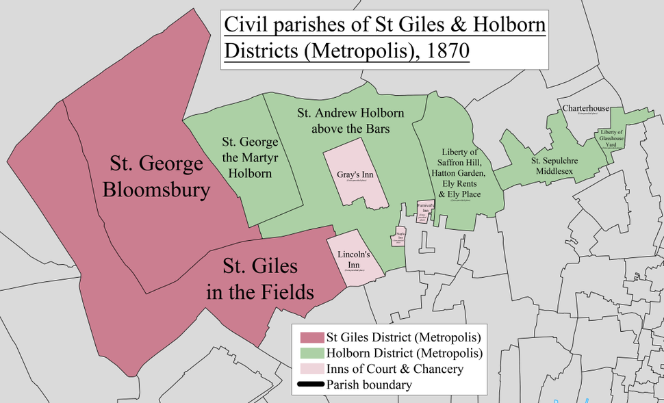 St Giles %26 Holborn Civil Parish Map 1870