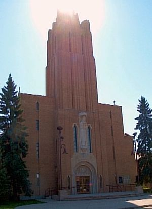 Maxwell Bates - St Mary's Cathedral in Calgary was designed by Maxwell Bates.