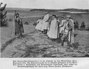 First Battle of the Masurian Lakes - General staff of the German 8th Army during the battle.