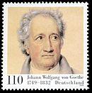 Goethe on a 1999 German stamp (Source: Wikimedia)