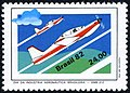 Stamp of Brazil - 1982 - Colnect 261437 - Embraer Tucano trainers.jpeg