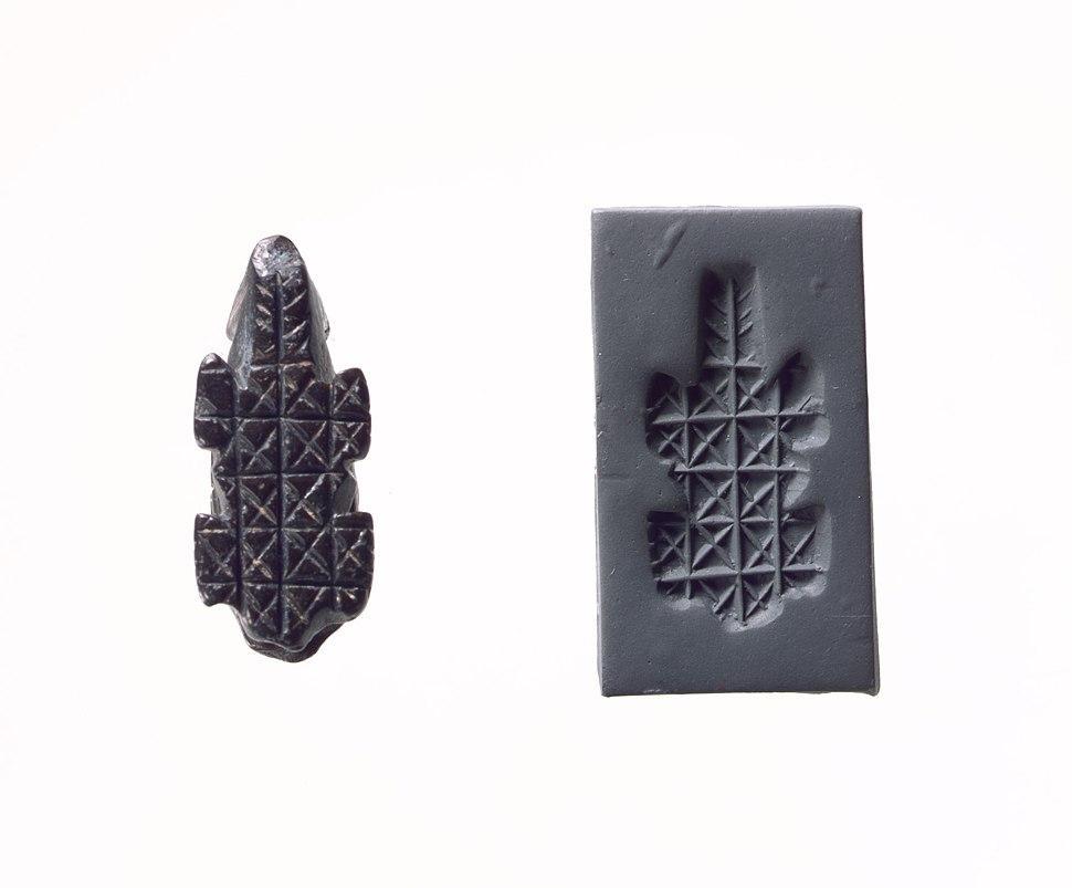 Stamp seal and modern impression- geometric pattern MET DP104233