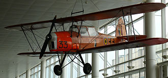 Stampe-Vertongen SV.4 - An SV.4B in the colours of the Belgian Air Force, until 2008 in the Zaventem Brussels Airport lobby