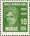 Stamps of Norway, 1929-Niels Henrik Abel1.jpg
