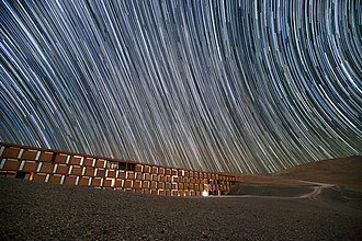Rotation - Star trails caused by the Earth's rotation during the camera's long exposure time.