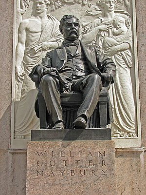 William C. Maybury - 1912 statue of William C. Maybury in downtown Detroit, MI