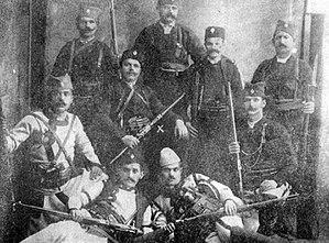 Miša Aleksić-Marinko - Image: Stefan Nedić Ćela and his band