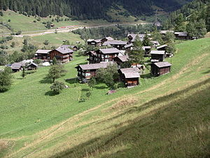 Ernen - Steinhaus village
