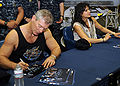Stephen Lang & Michelle Rodriguez on USS Dwight D. Eisenhower (CVN-69) 2010-01-27 5.jpg