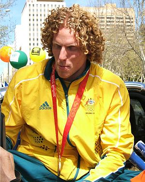 Steve Hooker at the 2008 Olympic welcome home ...