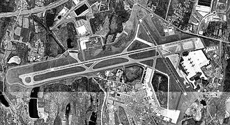 2009 Bronx terrorism plot - Satellite photo of Stewart Air National Guard Base, where the accused were planning to shoot down a military aircraft.