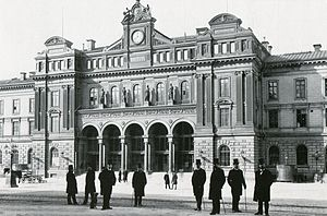 Stockholm Central Station - The station in 1890