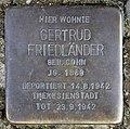 Stolperstein Cranachstr 58 (Schön) Gertrud Friedländer.jpg