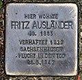 Stolperstein Erholungsweg 14 (Tegel) Fritz Ausländer.jpg
