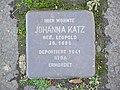 Stolperstein Johanna Katz, 1, Bahnhofstraße 8, Bad Wildungen, Landkreis Waldeck-Frankenberg.jpg