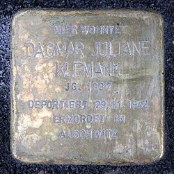 Photo of Dagmar Klemann brass plaque