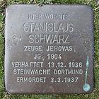 Stolperstein für Stanislaus Schwarz