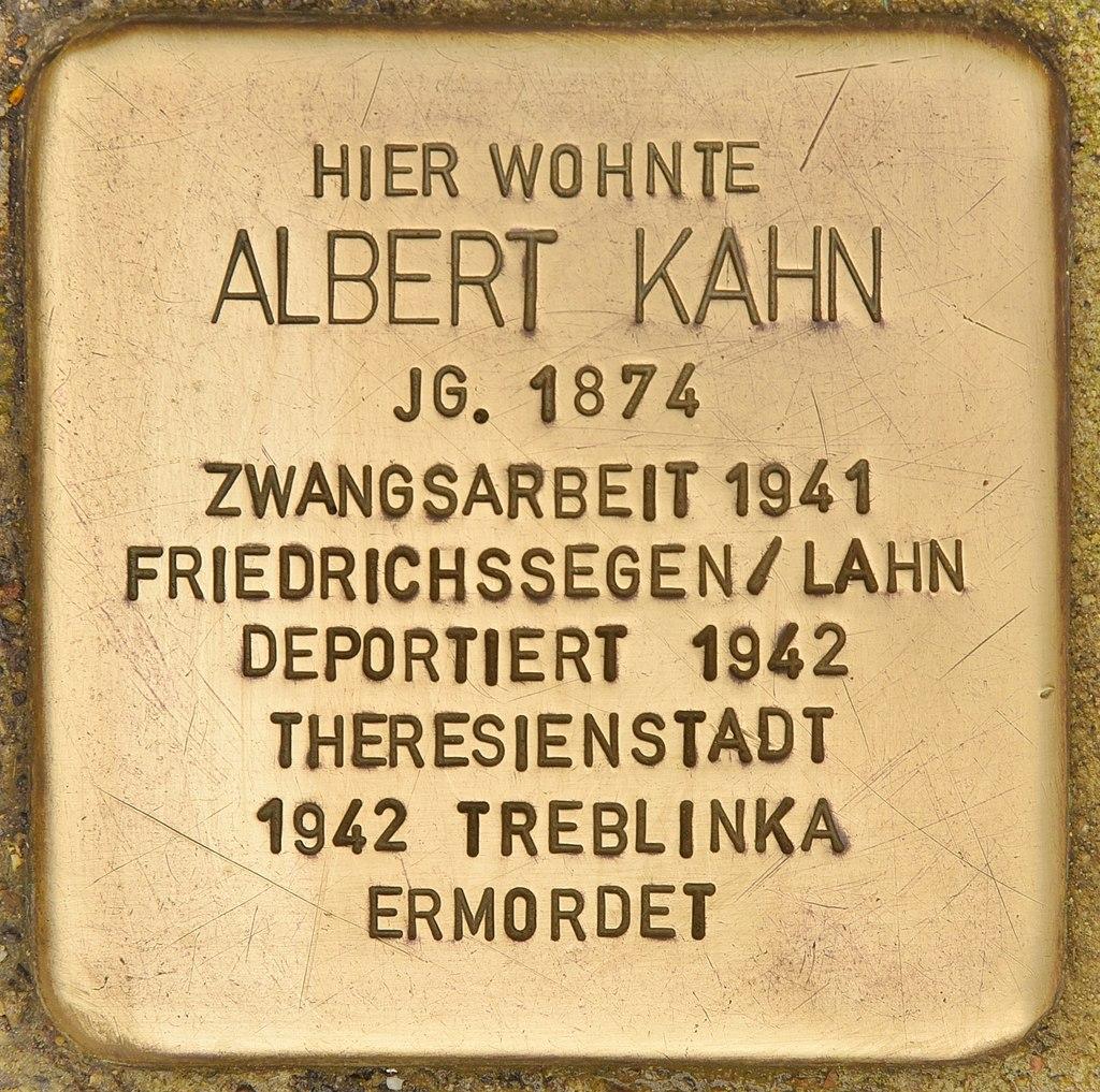 Stolperstein für Albert Kahn (Montabaur).jpg